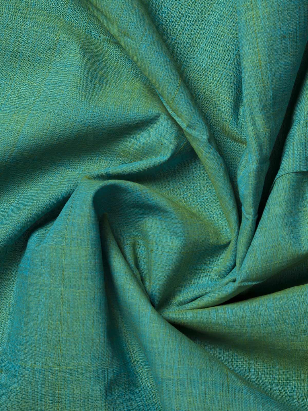 Teal color south cotton fabric