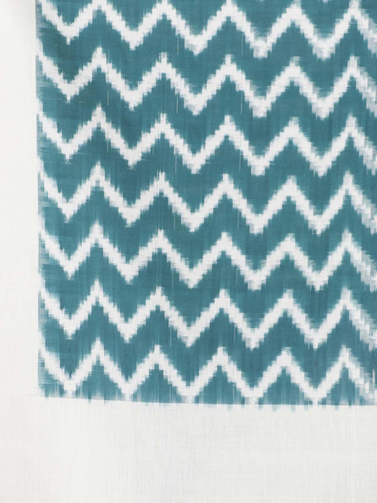 Blue waves ikat cotton dupatta