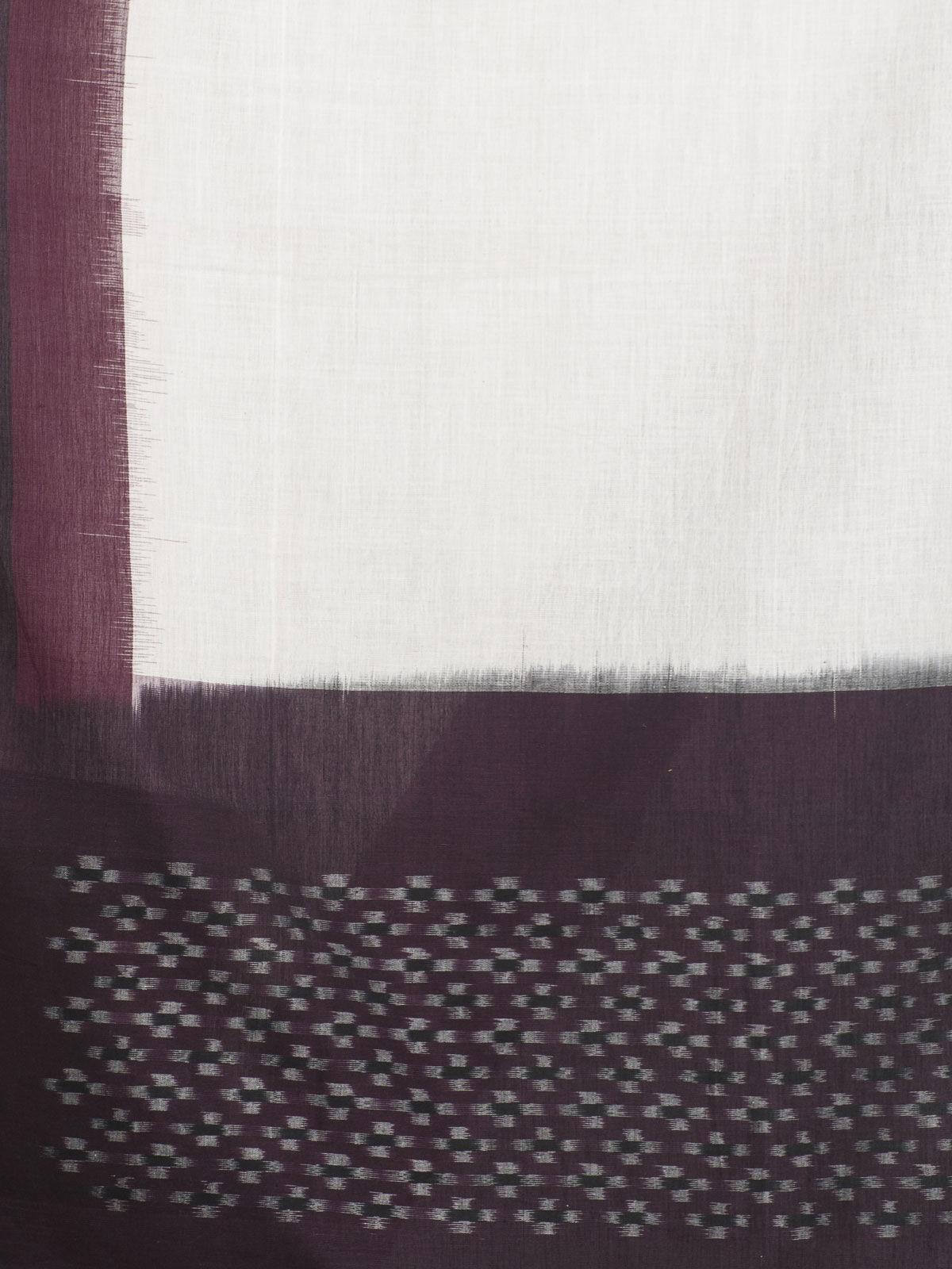 Marron color ikat cotton dupatta