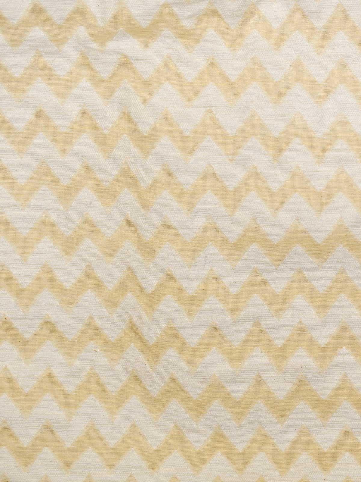 White and Yellow Jamdani Cotton Fabric