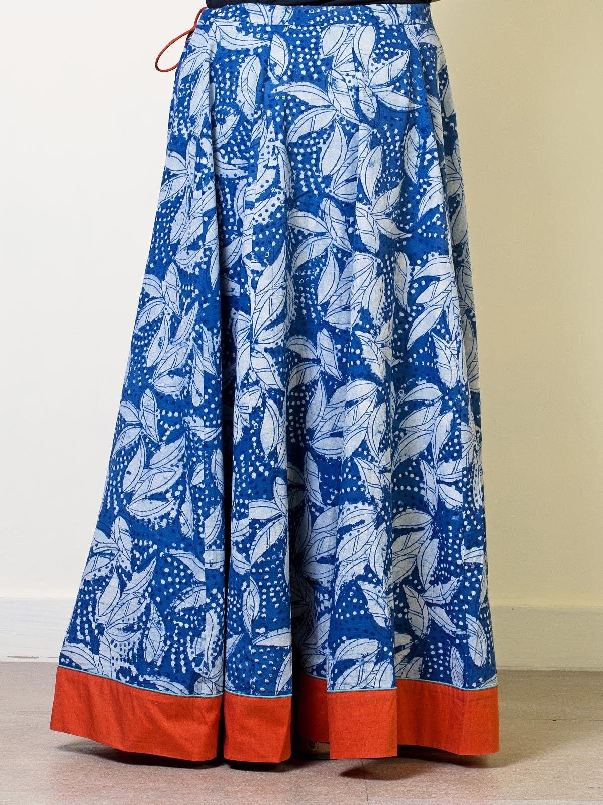 Squash Cotton Printed Circular skirt