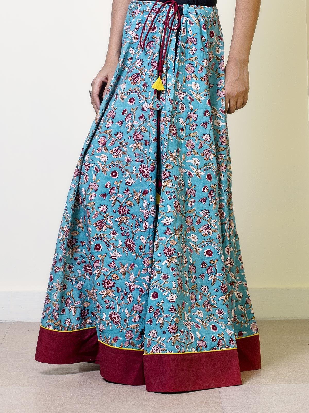 Carolina Cotton Printed Circular Skirt