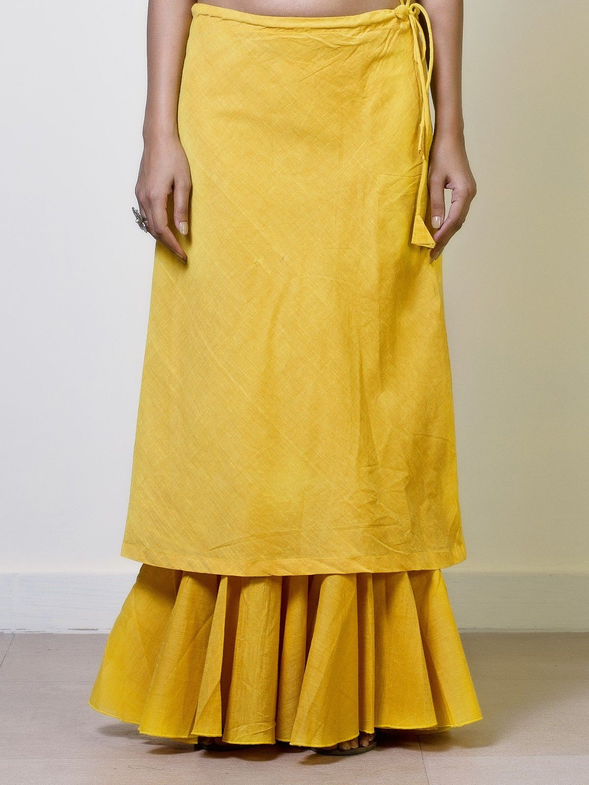 Daffodil Cotton Double Layered Skirt