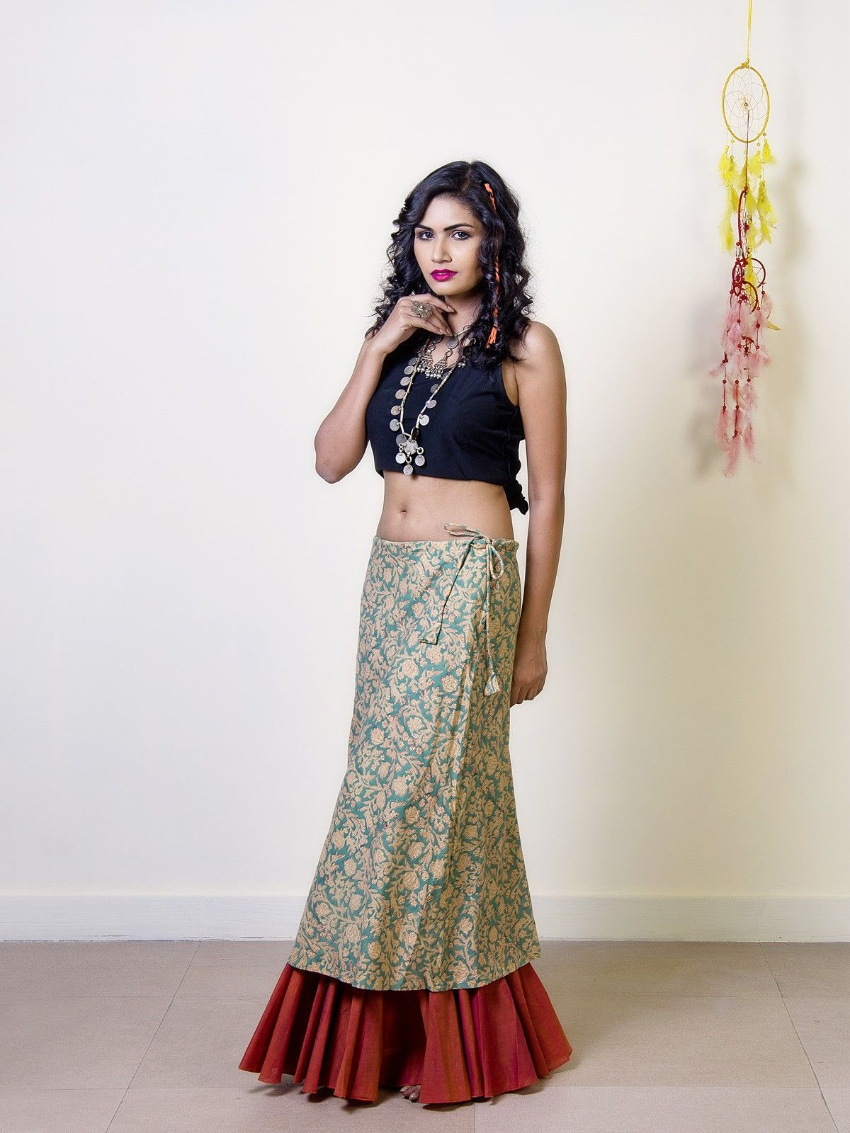 Pine Cotton Double Layered Skirt