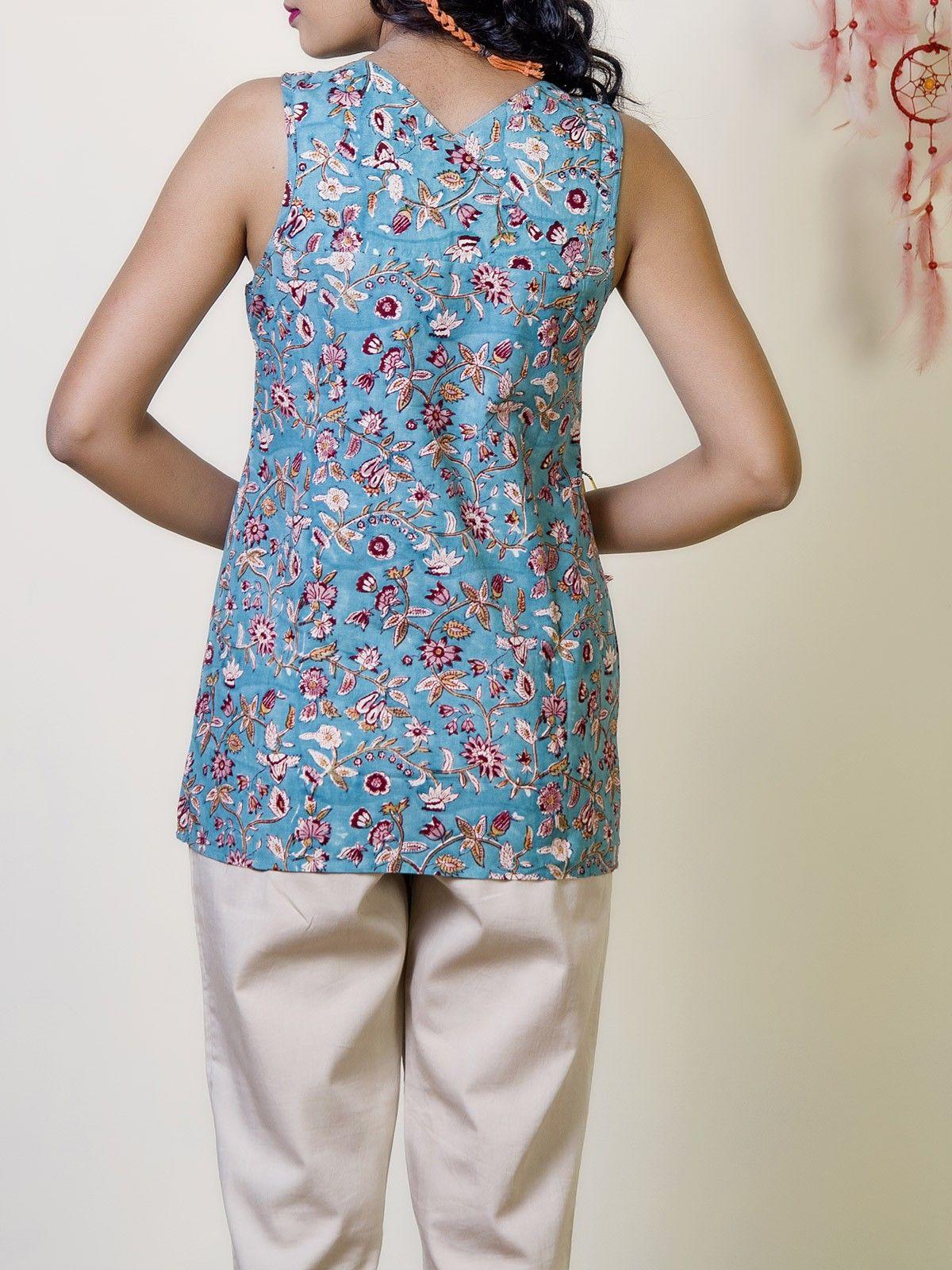 Carolina Cotton Printed Boho Top