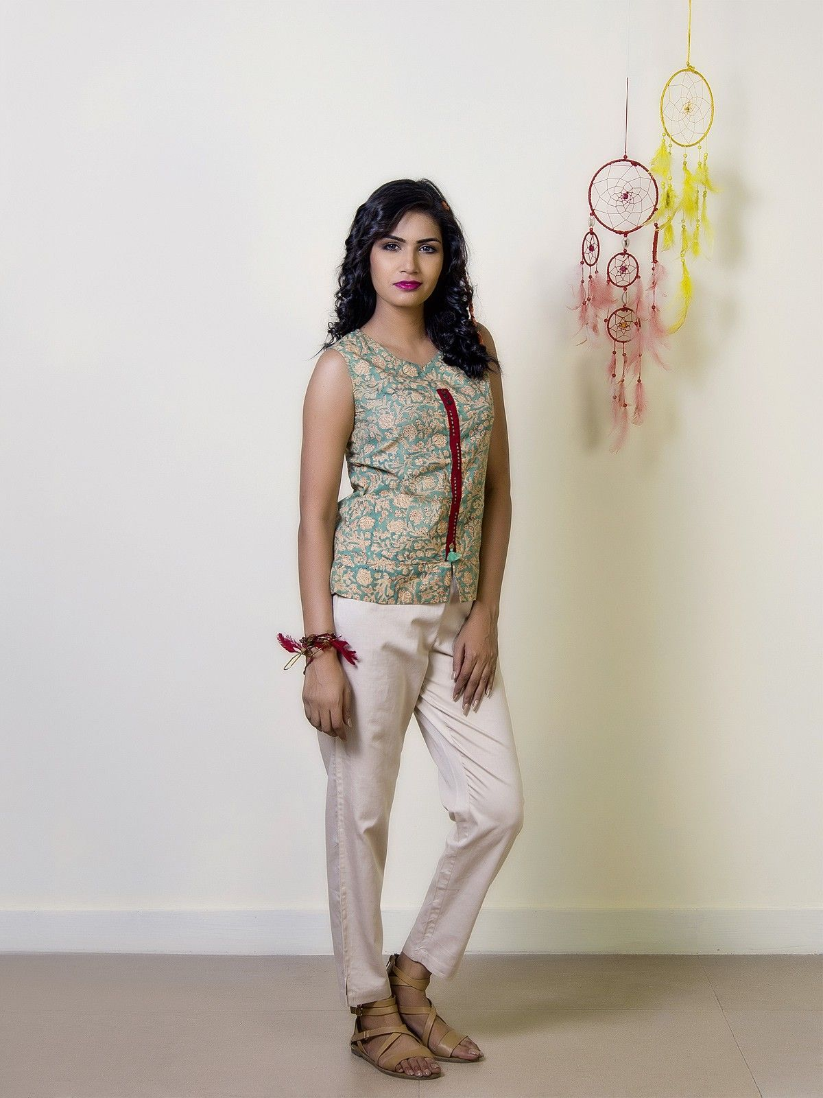 Maldives Cotton Printed Boho Top