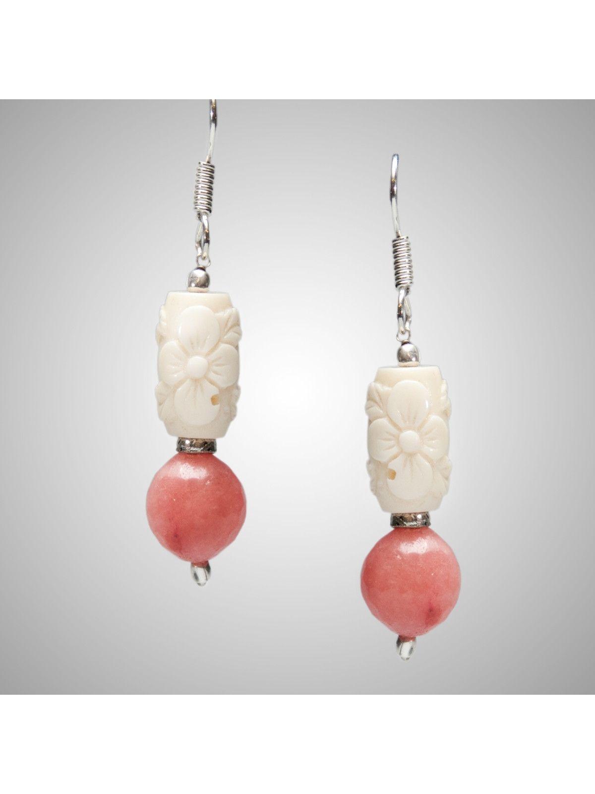 Titania peach earrings