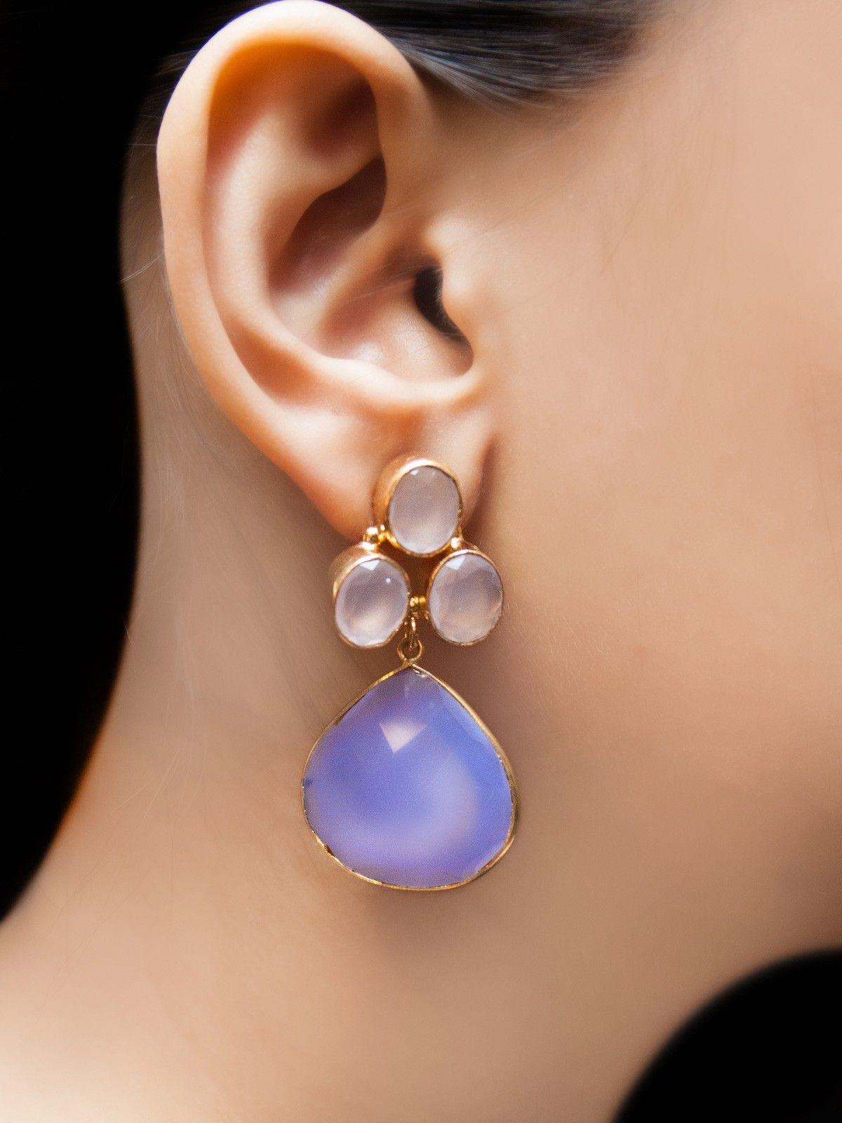 Blue lava earrings