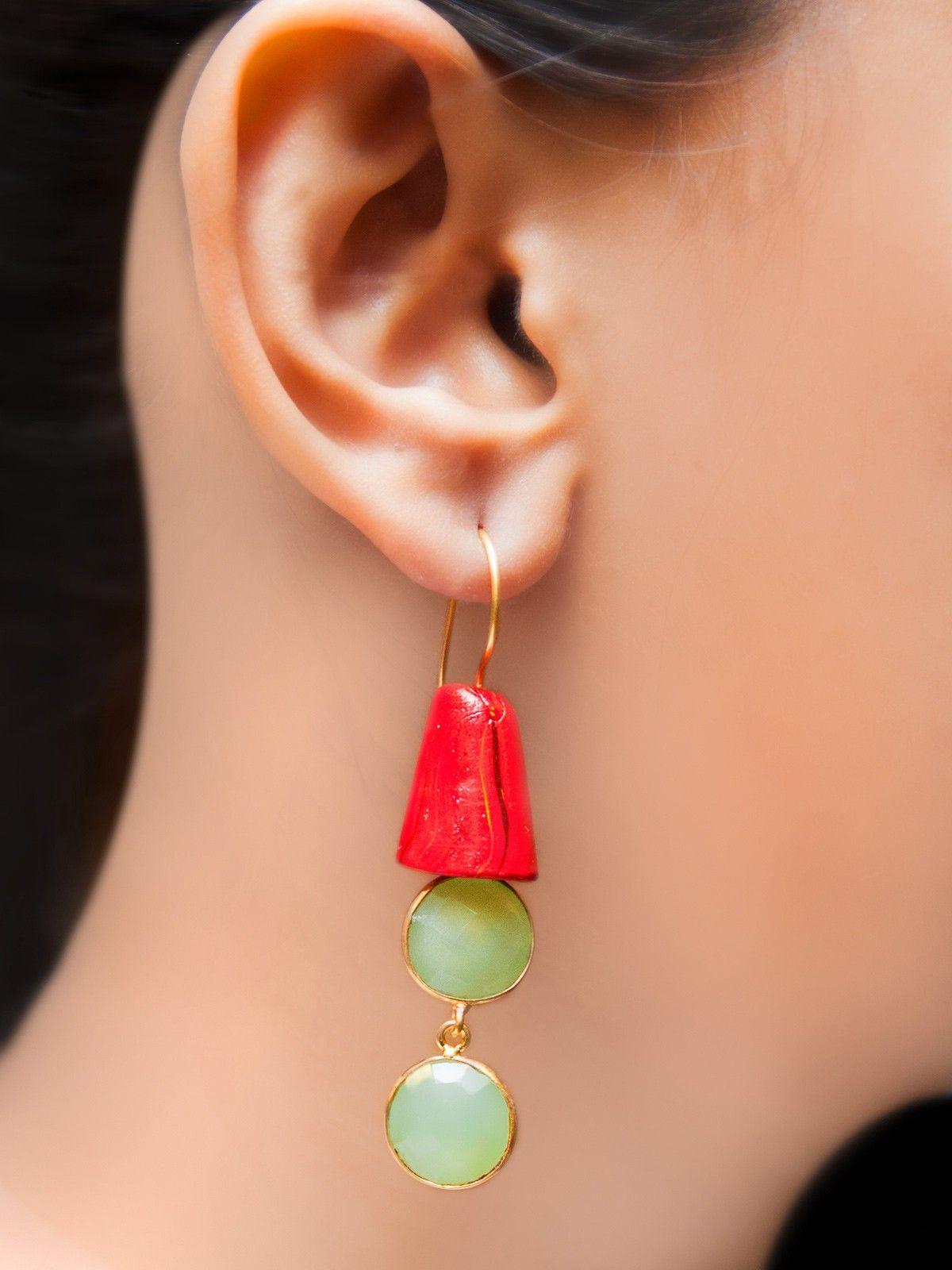 Sea-green interstellar earrings