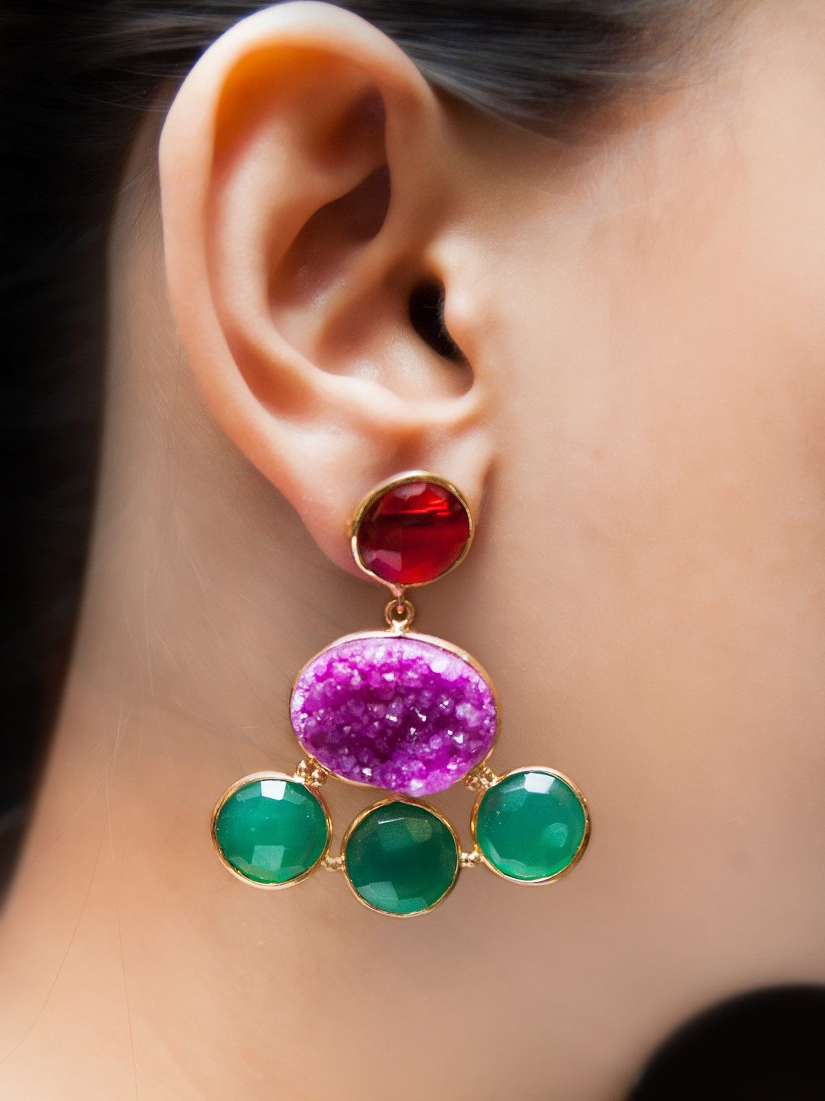 Heliospheric Wave earrings