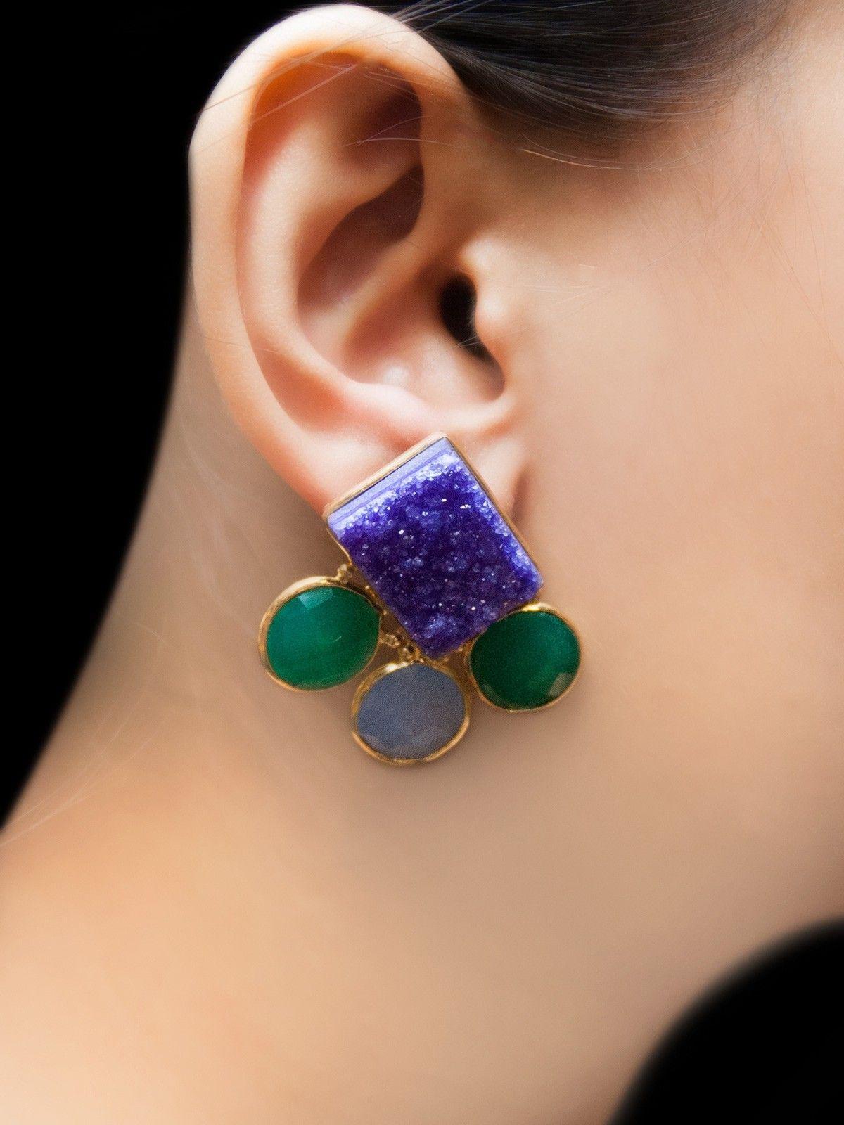 Neptune trojan earrings