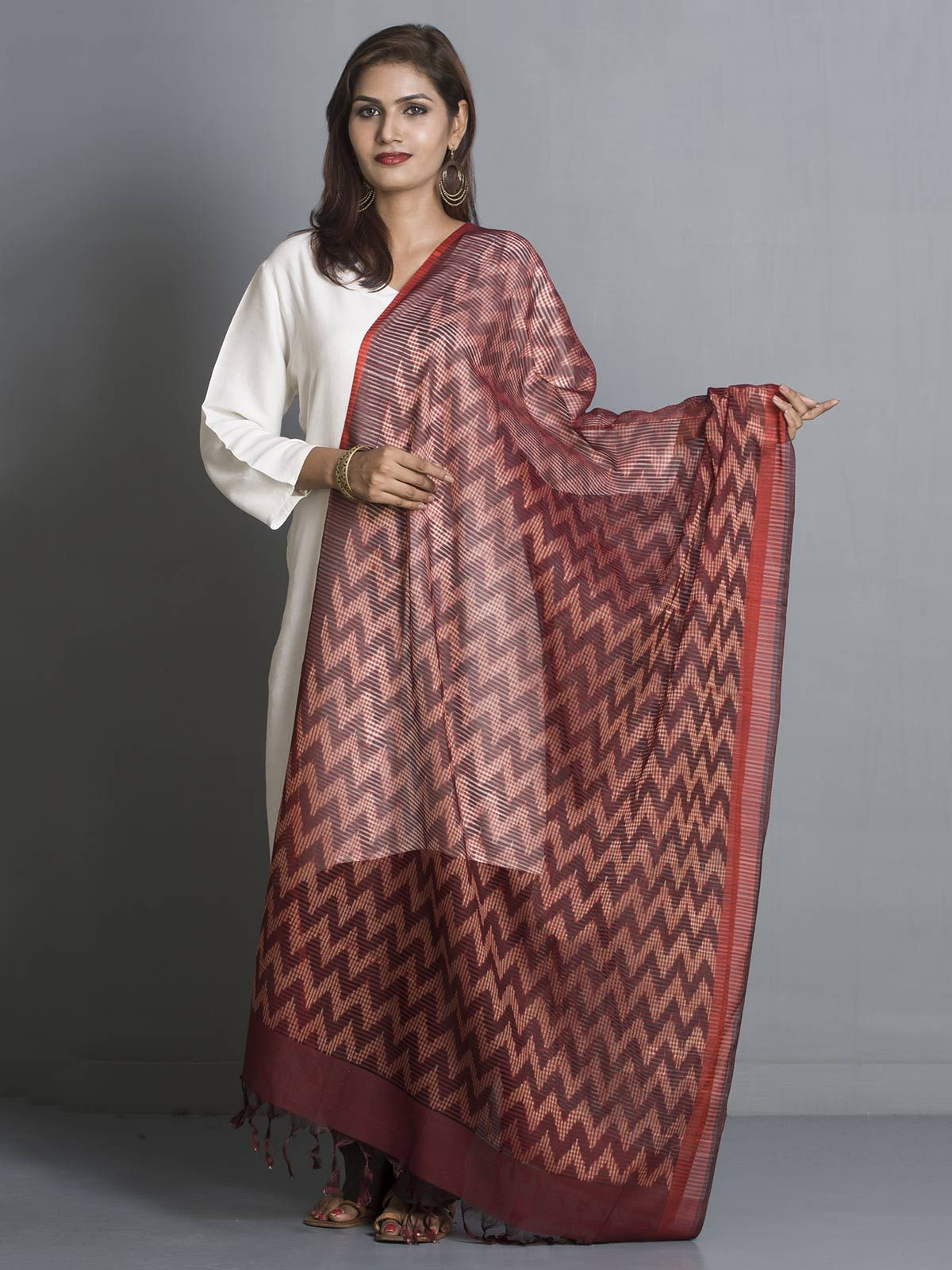 Multi color cotton silk dupatta