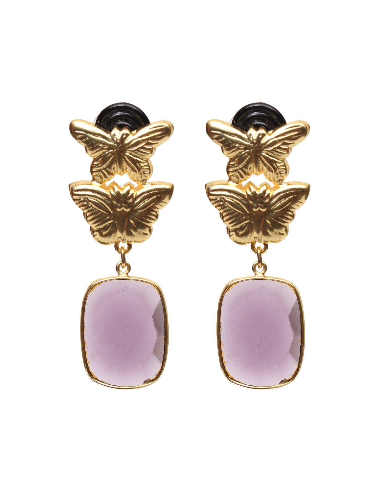 Lilac earth earrings