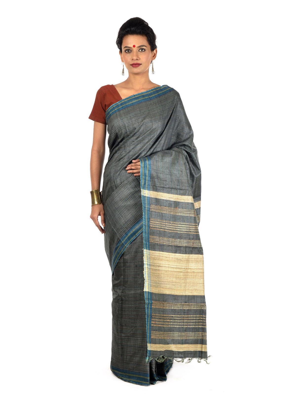 Tivra Tussar Silk Saree