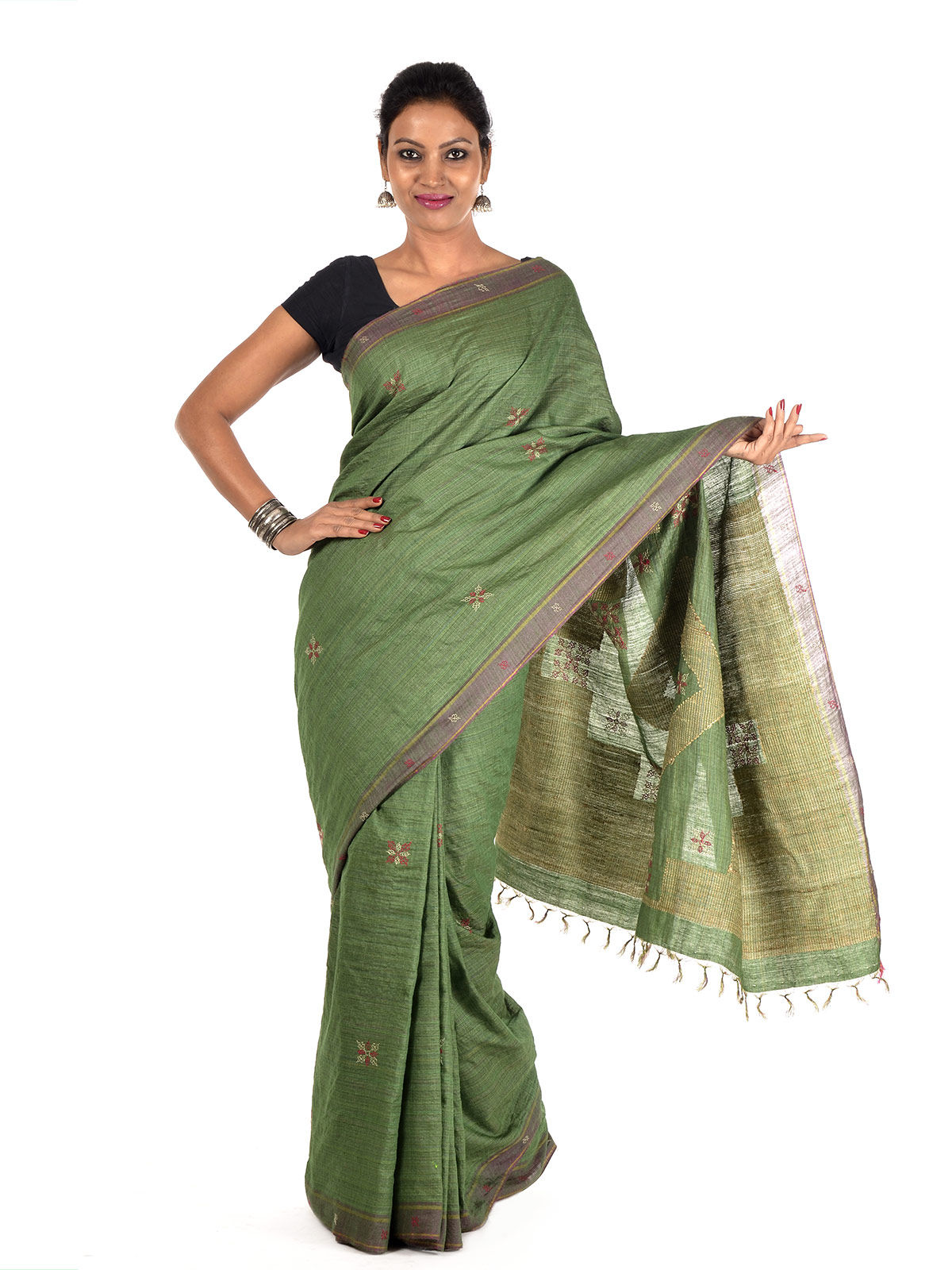 Parna Tussar Silk Saree