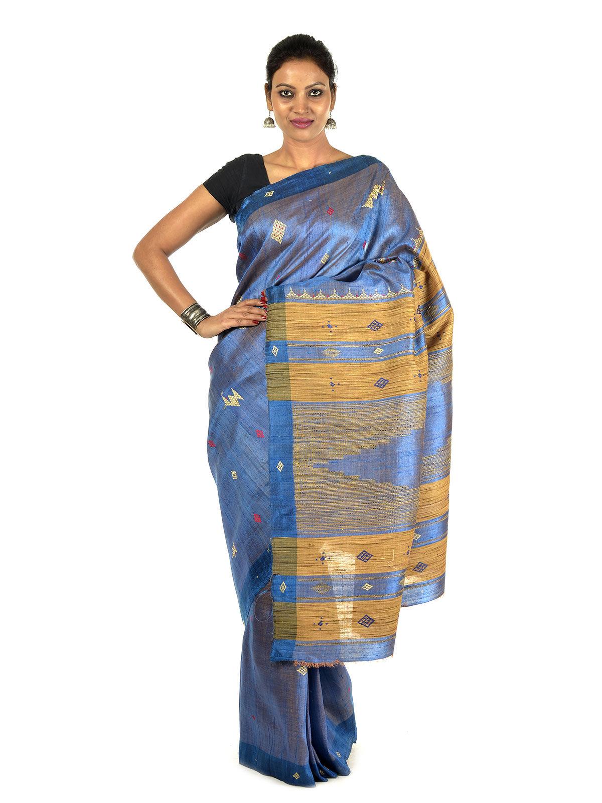 Suvarna Tussar Silk Saree