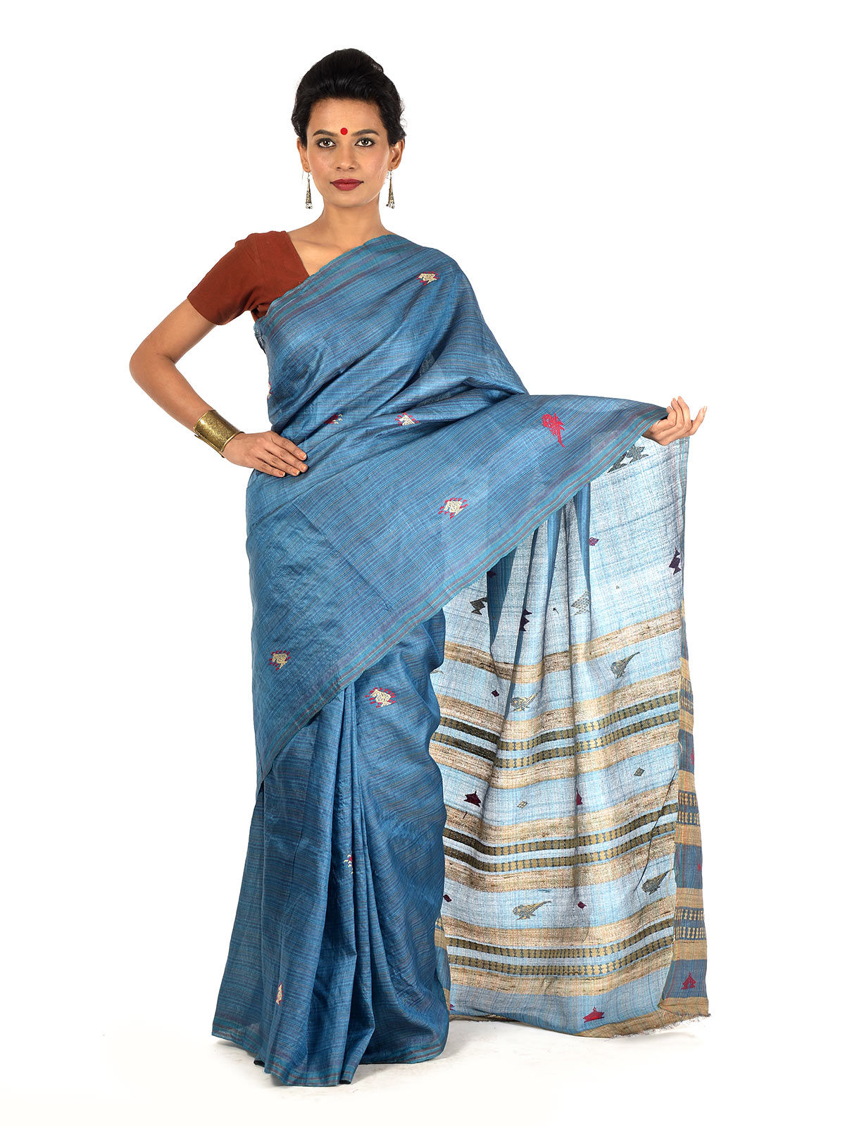 Indivaras Tussar Silk Saree