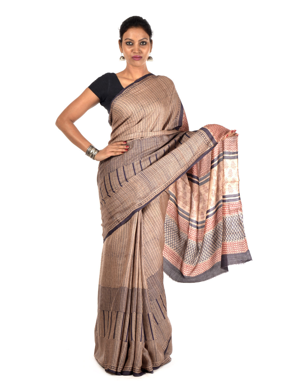 Kaza Tussar Silk Saree