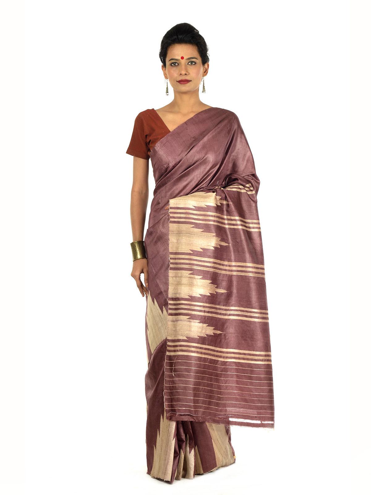 Raktaksa Tussar Silk Saree