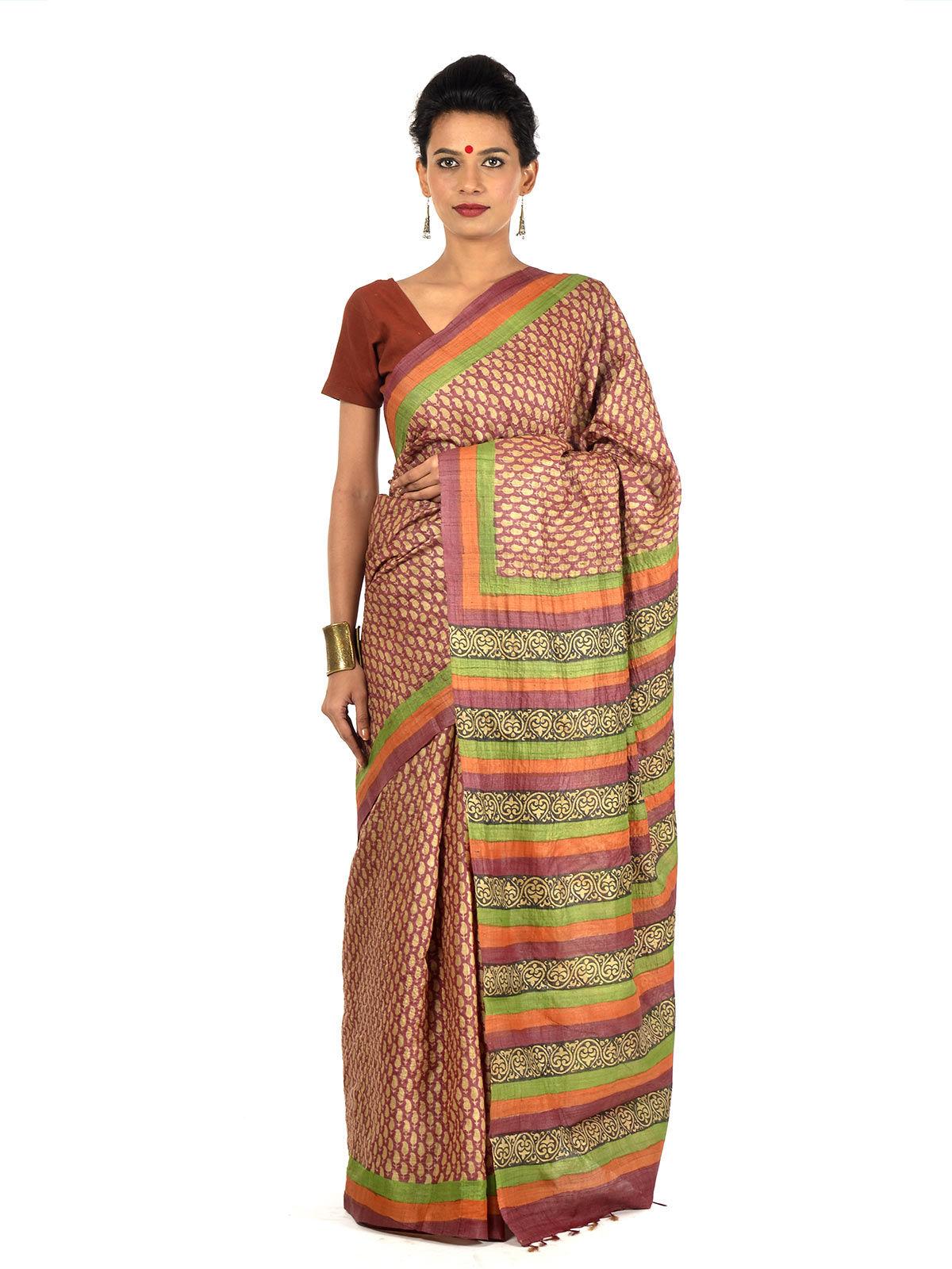 Pandu Tussar Silk Saree