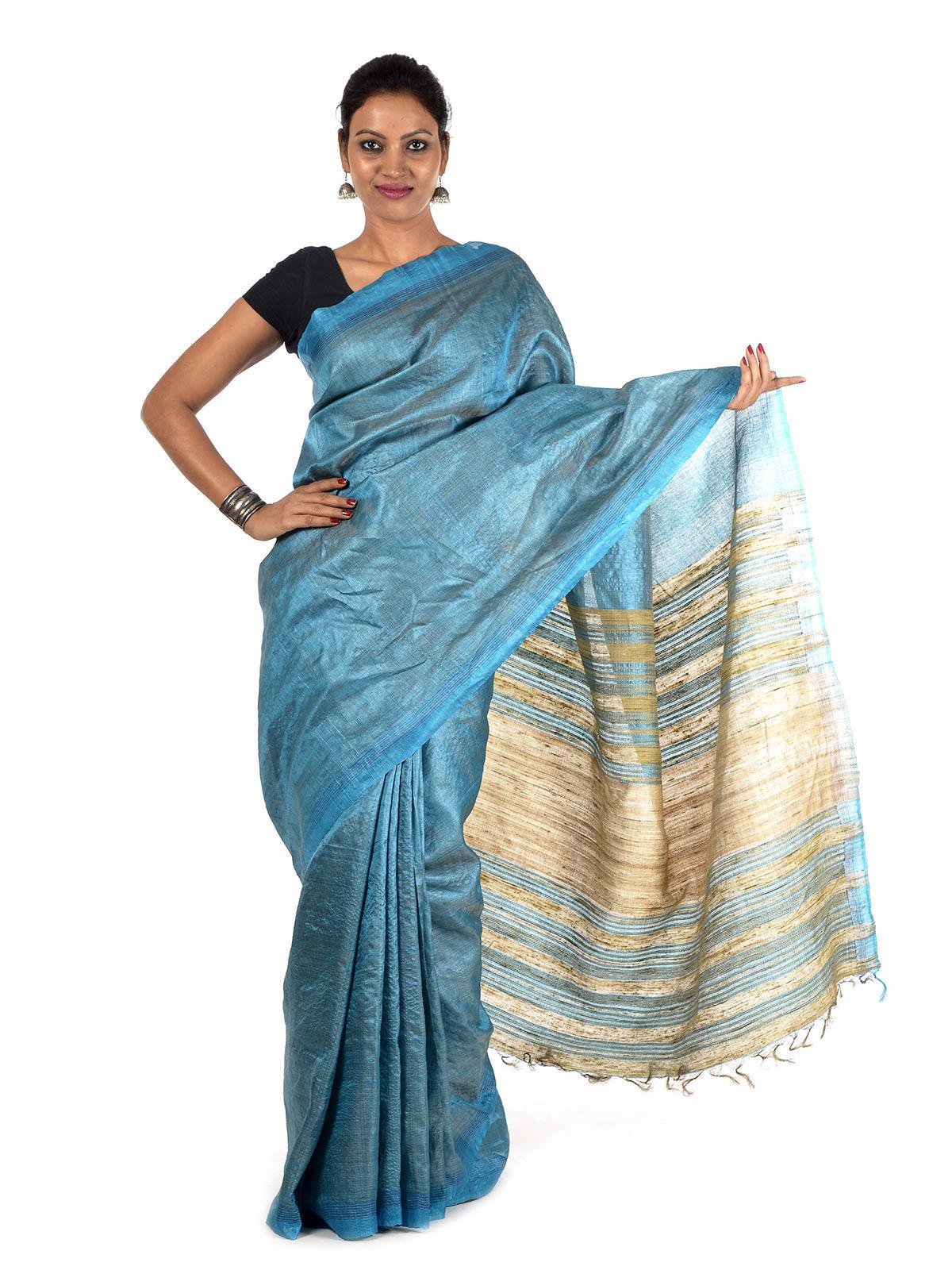 Rajavi Tussar Silk Saree