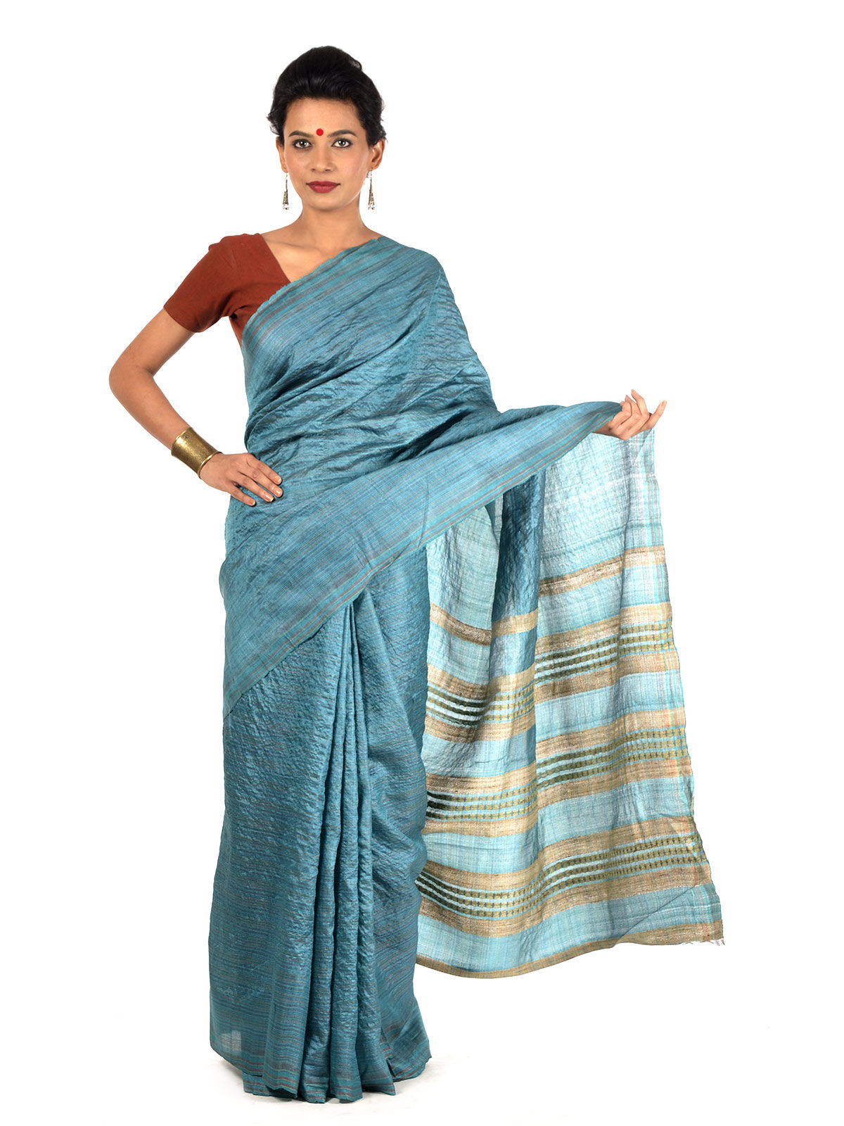 Azvakhuri Tussar Silk Saree