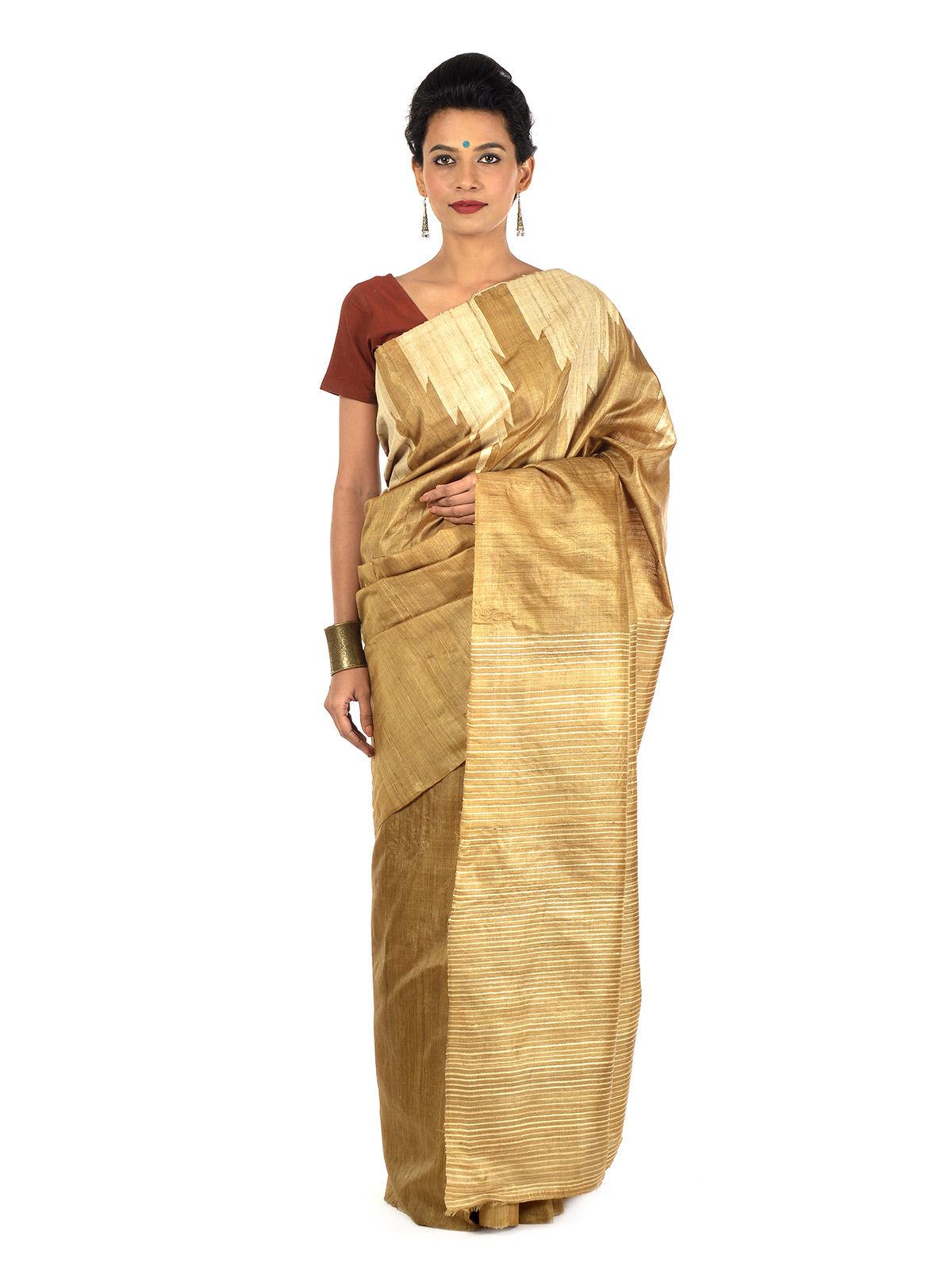 Dvidiya Tussar Silk Saree