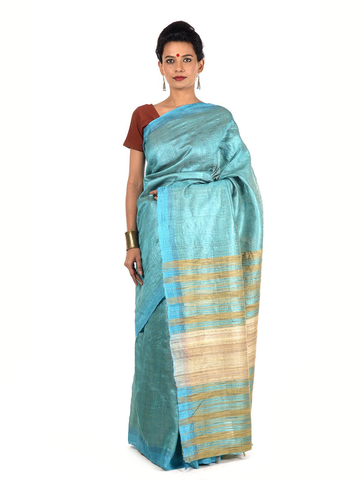 Kandota Tussar Silk Saree