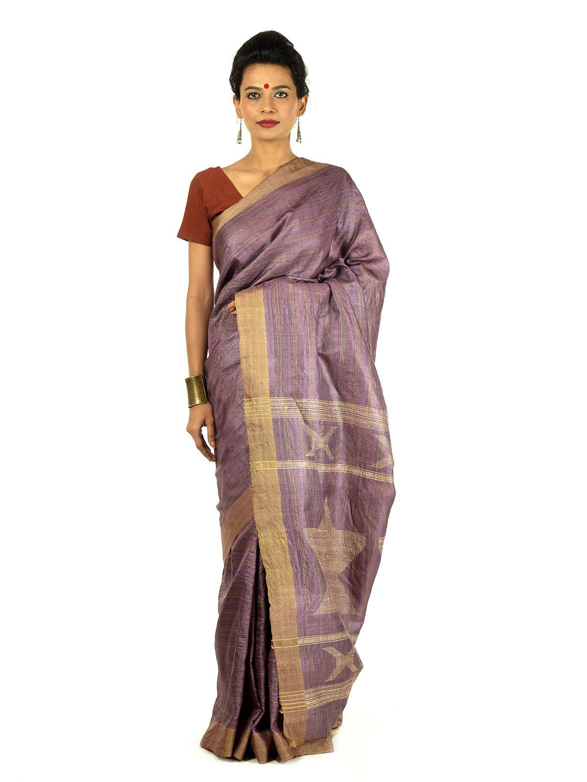 Lohita Tussar Silk Saree