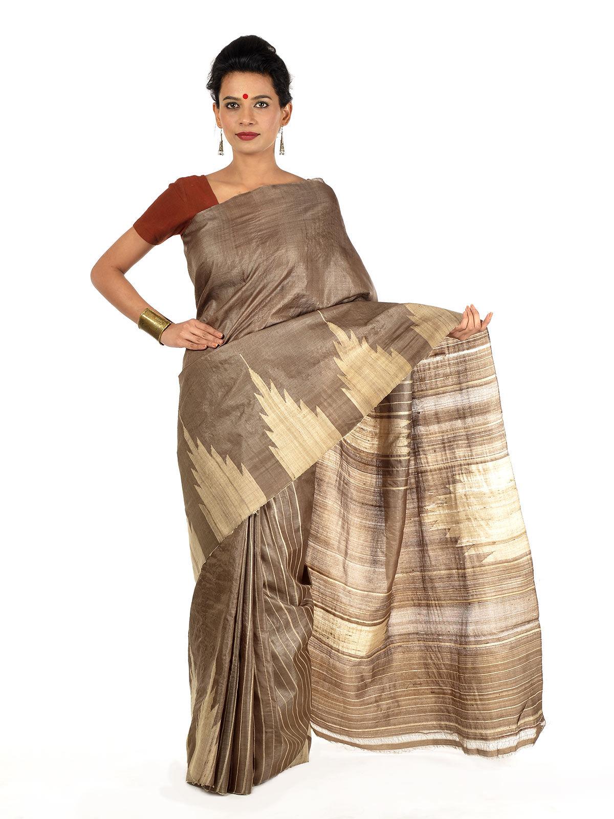 Dhumra Tussar Silk Saree