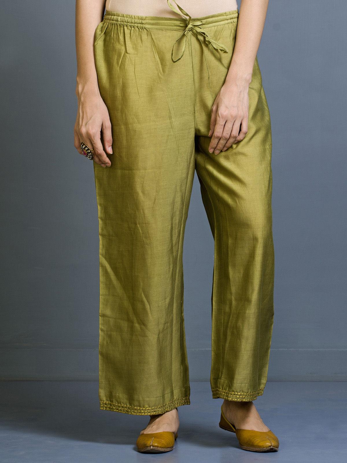 Shajara Chanderi Straight Fit Trousers