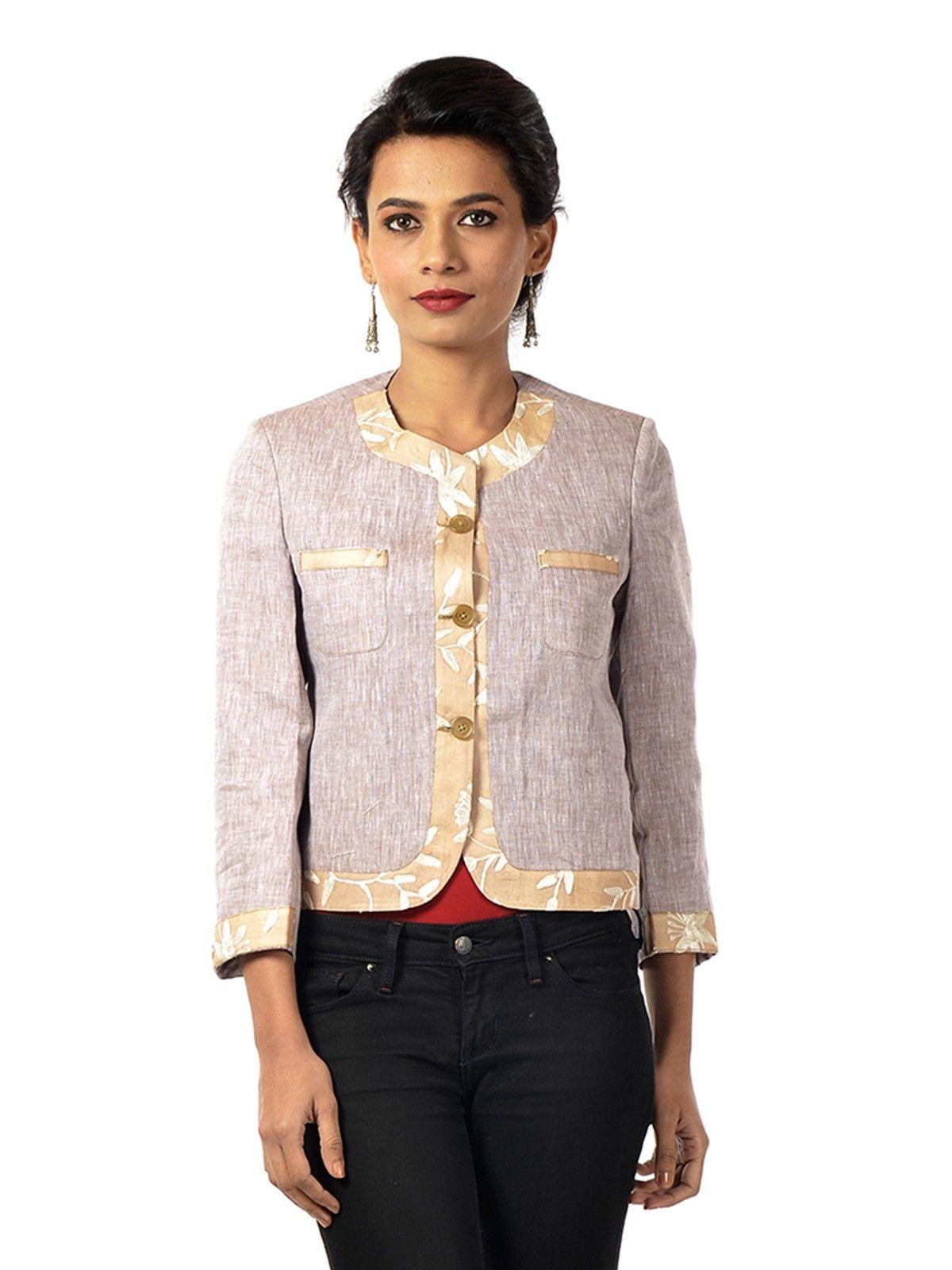 Taupe Cotton Jacket