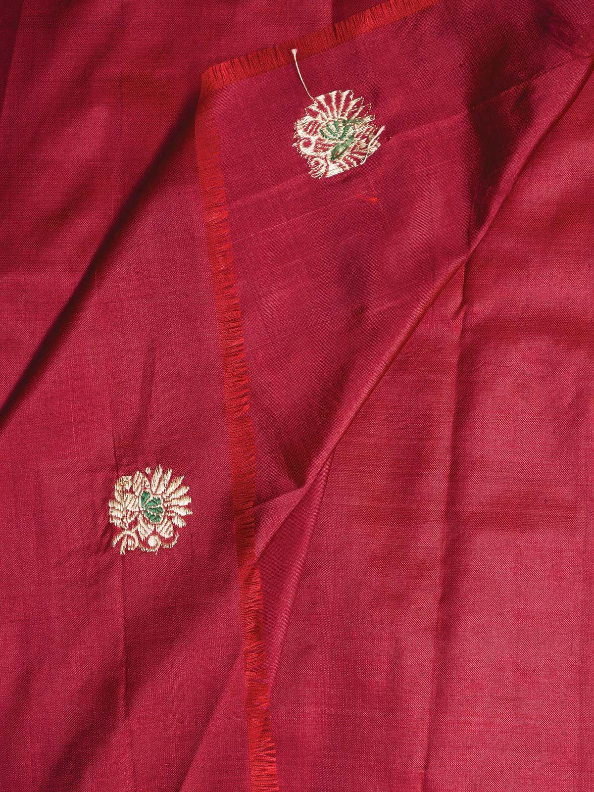 Red Banarasi  Silk Fabric