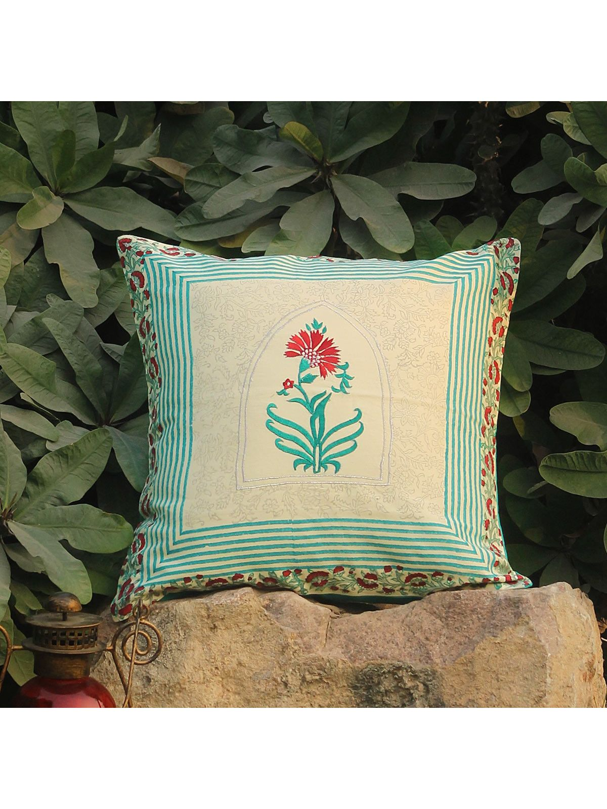 Peacock Zirees Window Cushion