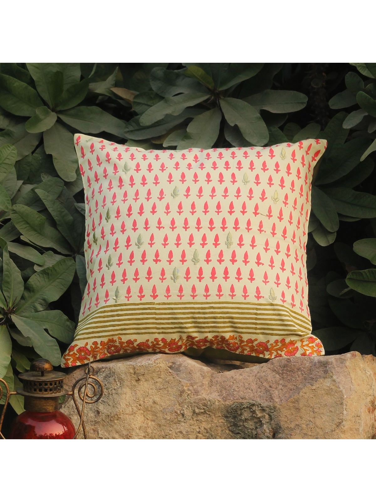 Rose Pink Amraah Zari cushion