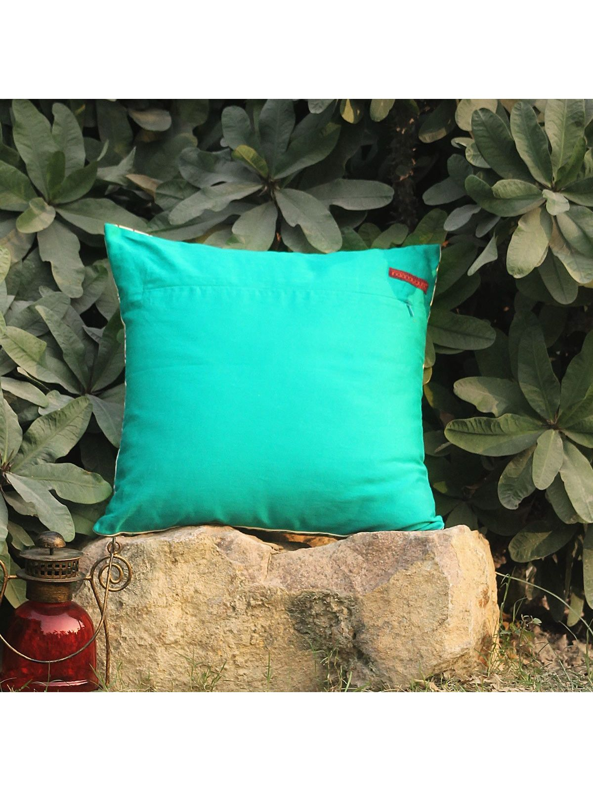 Rose Red Amraah Zari cushion