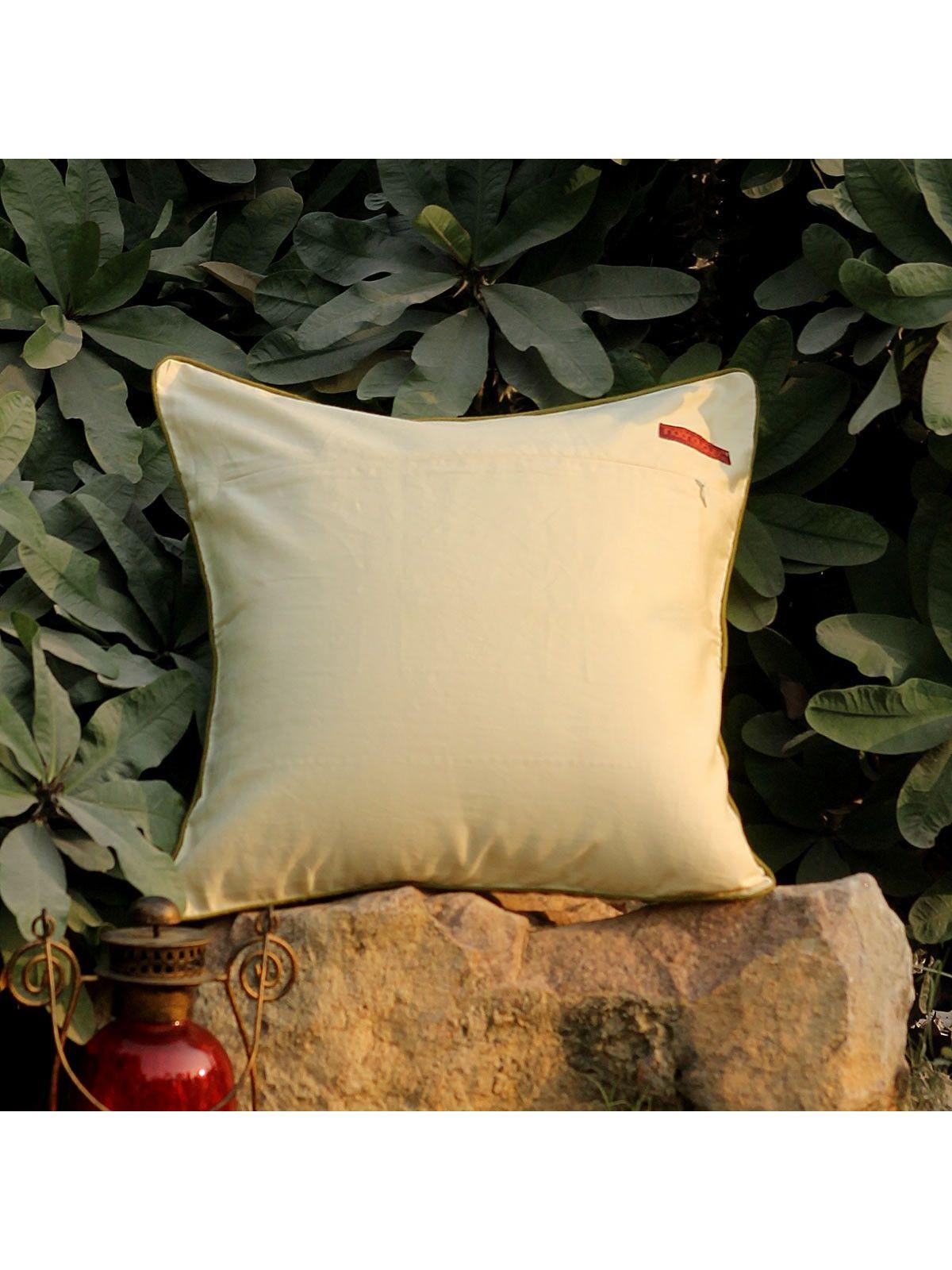 Tangerine Kusum Kuhar cushion
