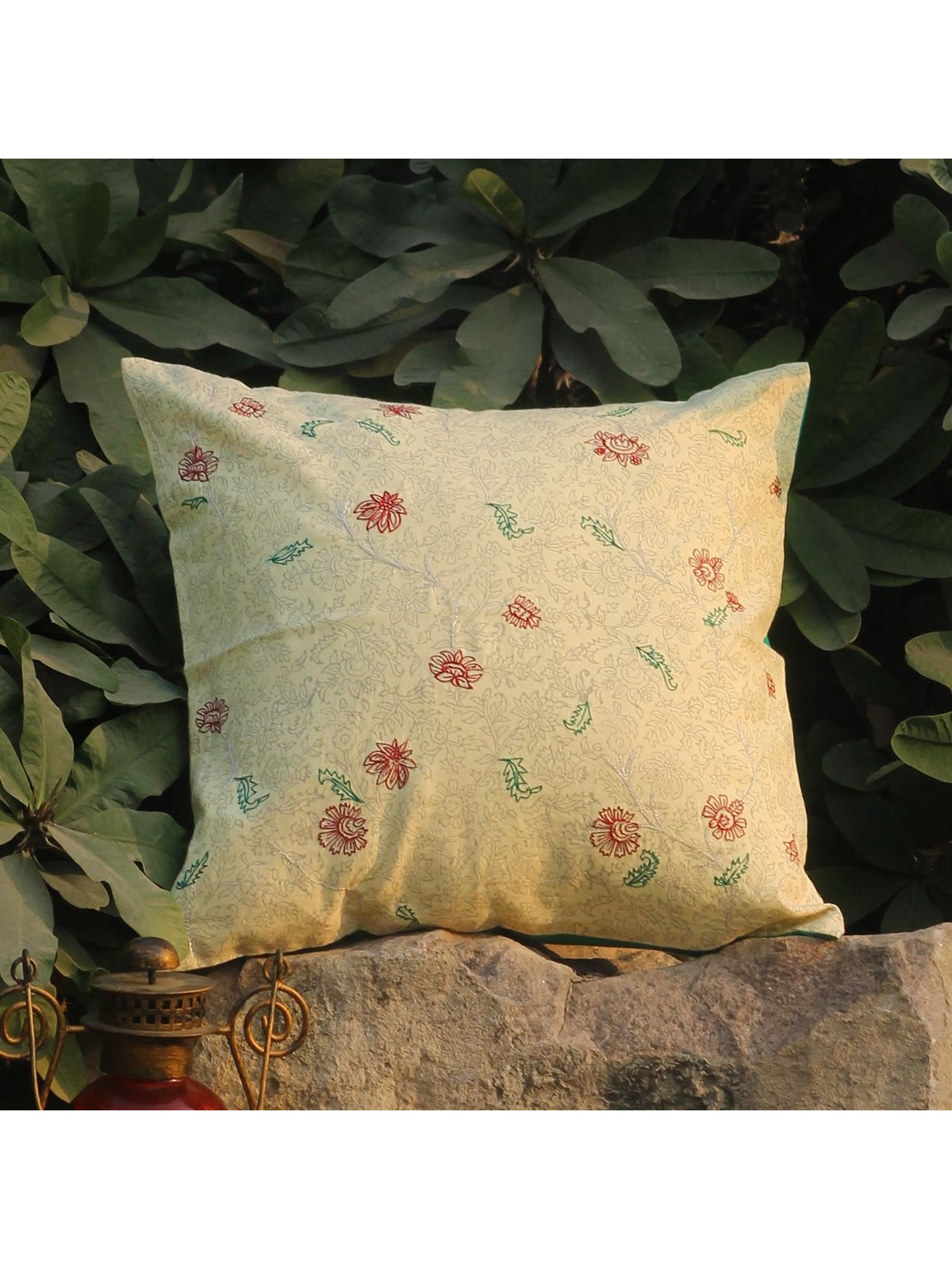 Rose Red Kusum Jalaka cushion