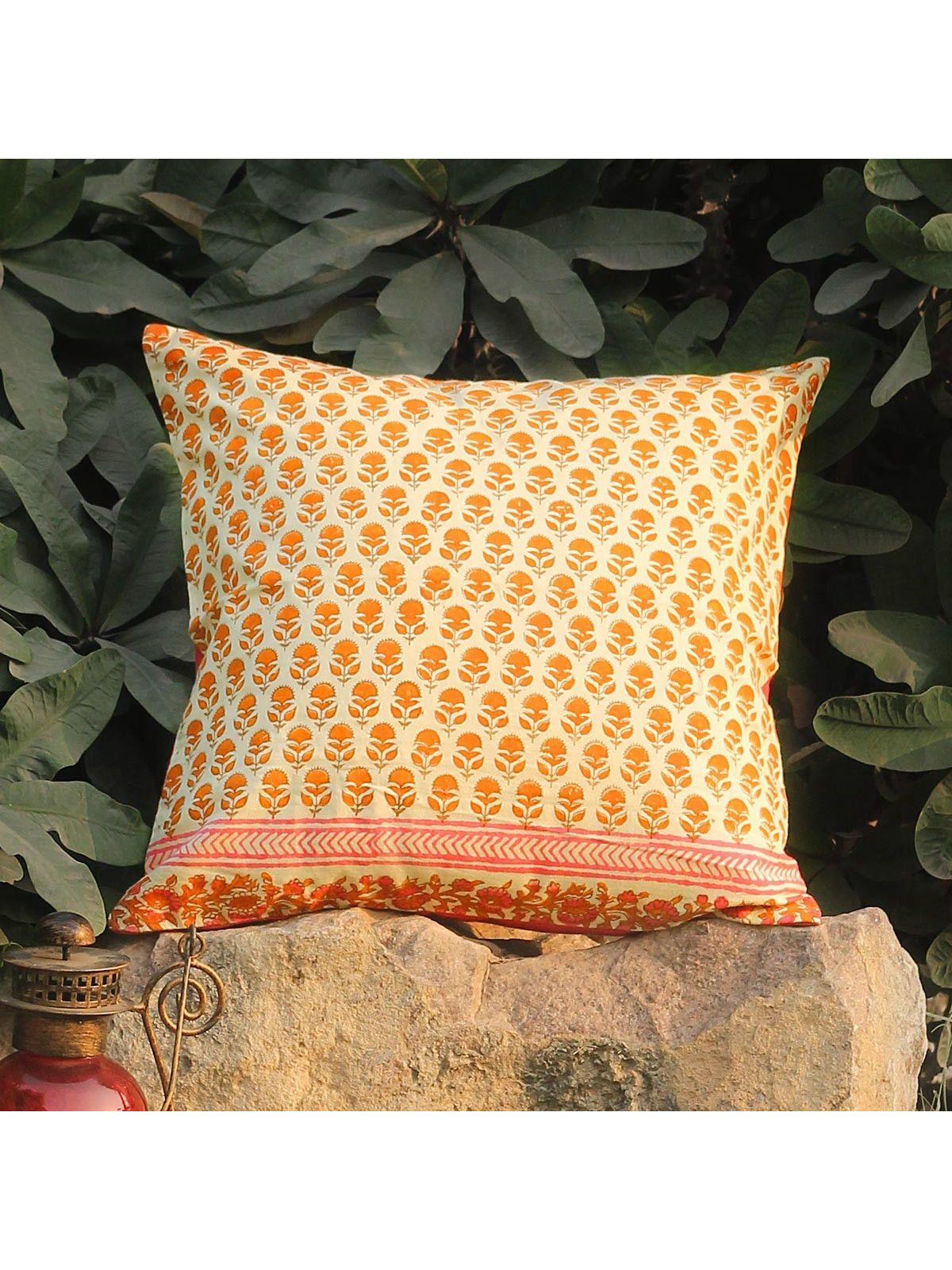 Tangerine Shimbala cushion