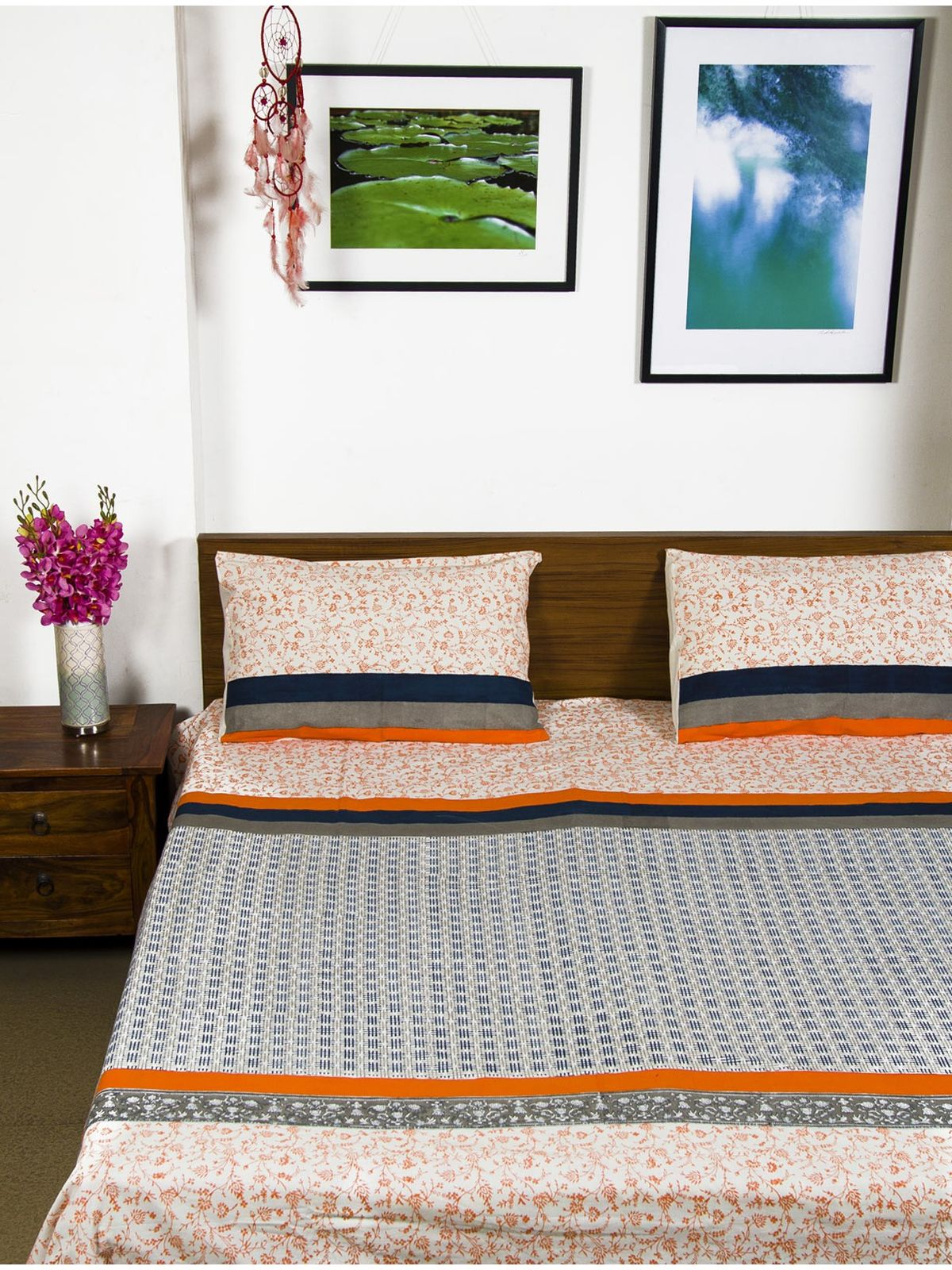 Advik Single Bedsheet with Pillow Cover