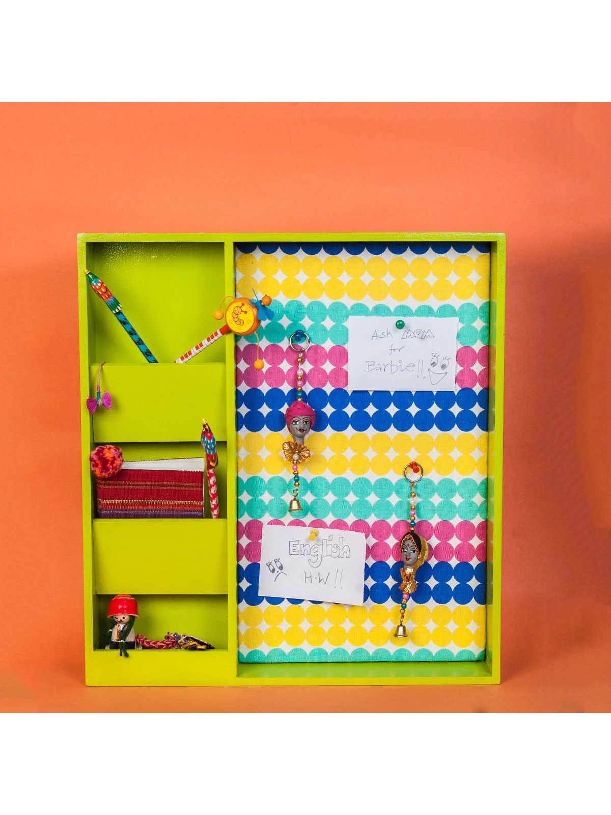 Green mini organizer