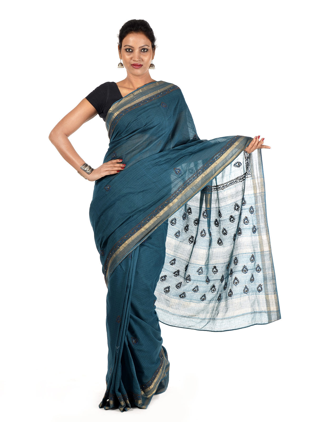 Hiravata Maheshwari Cotton Saree