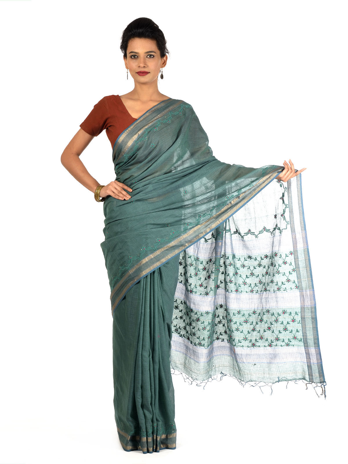Jhurane Maheshwari Cotton Saree