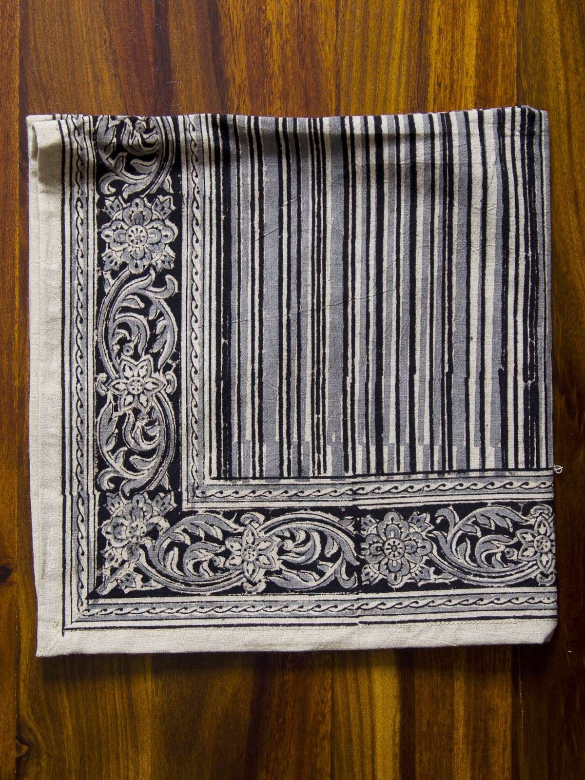 Bistre Stripes Kalamkari Napkin