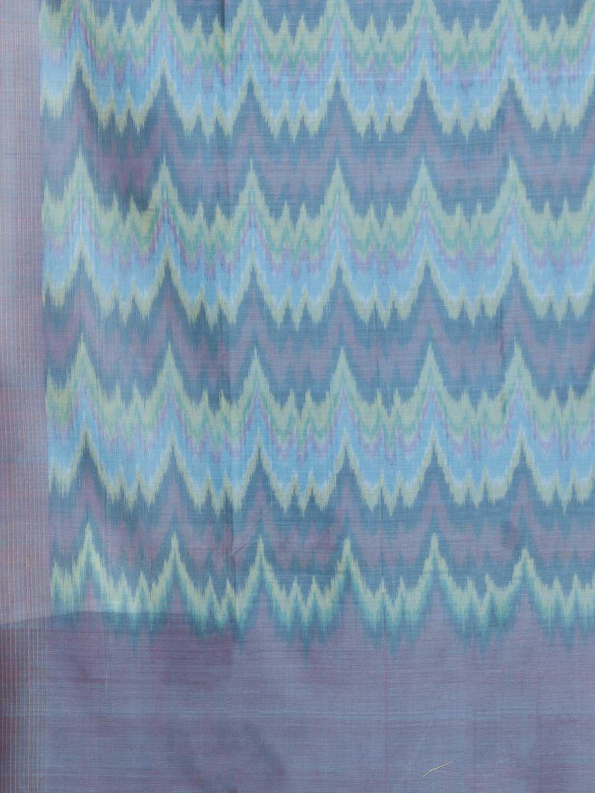 Multi blue cotton silk dupatta