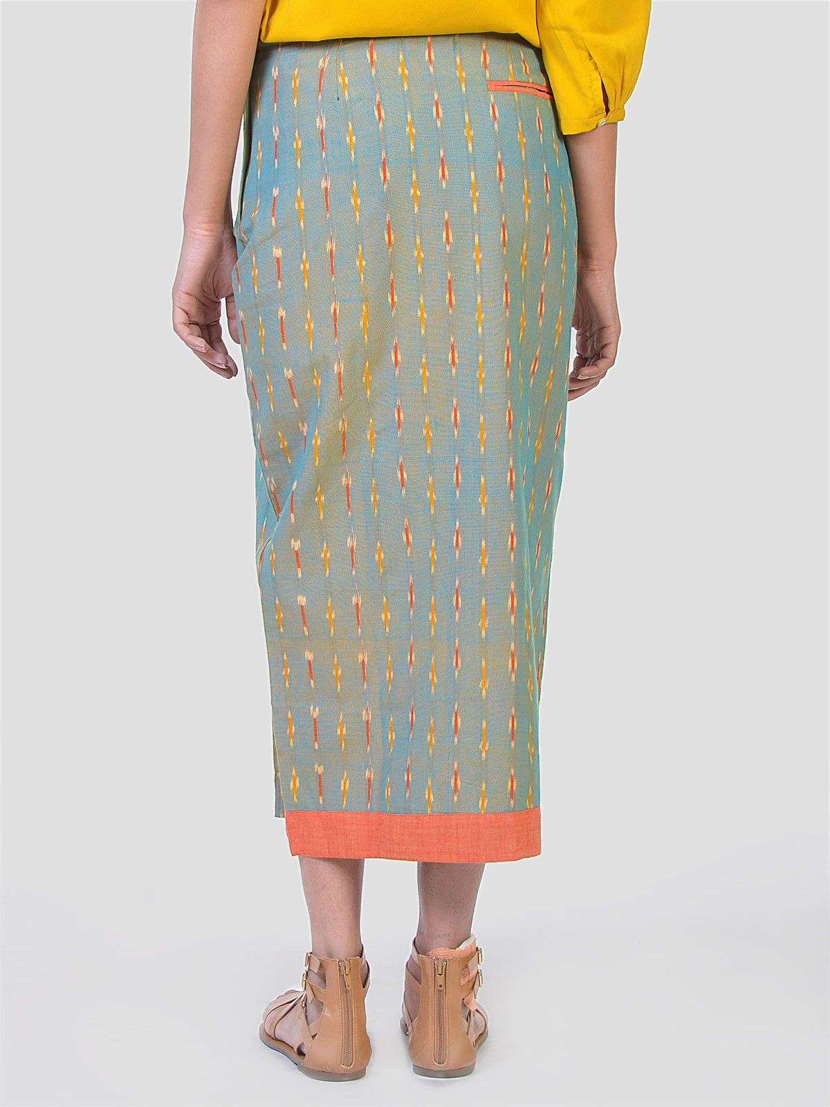 Tapered sage green skirt