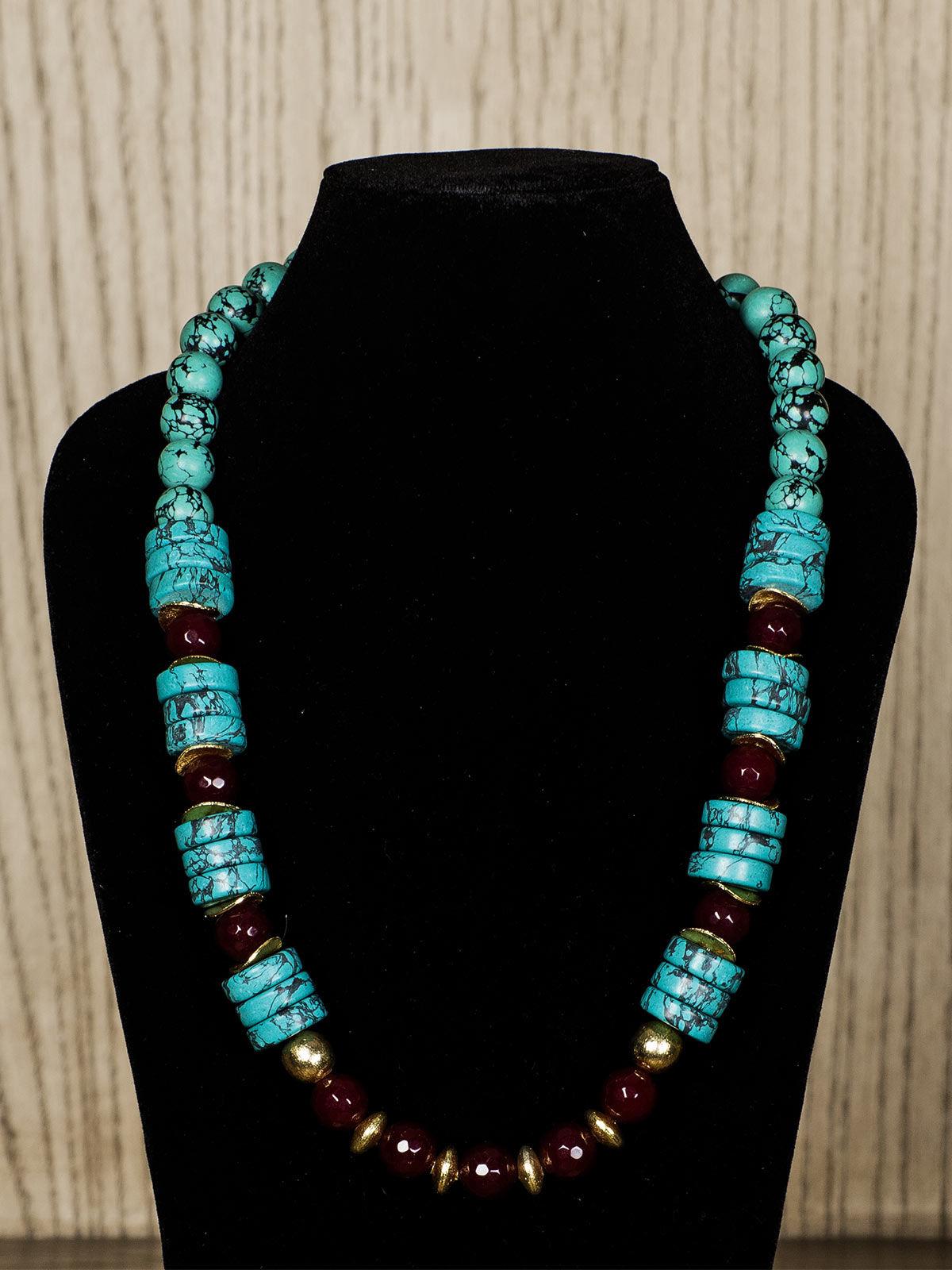 Tiffany Blue Semiprecious Stone Necklace