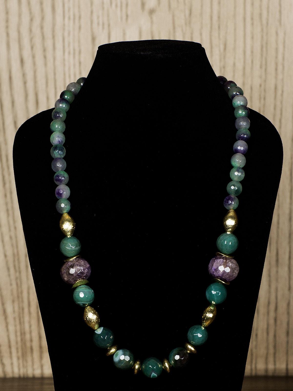Green Semiprecious Stone Necklace