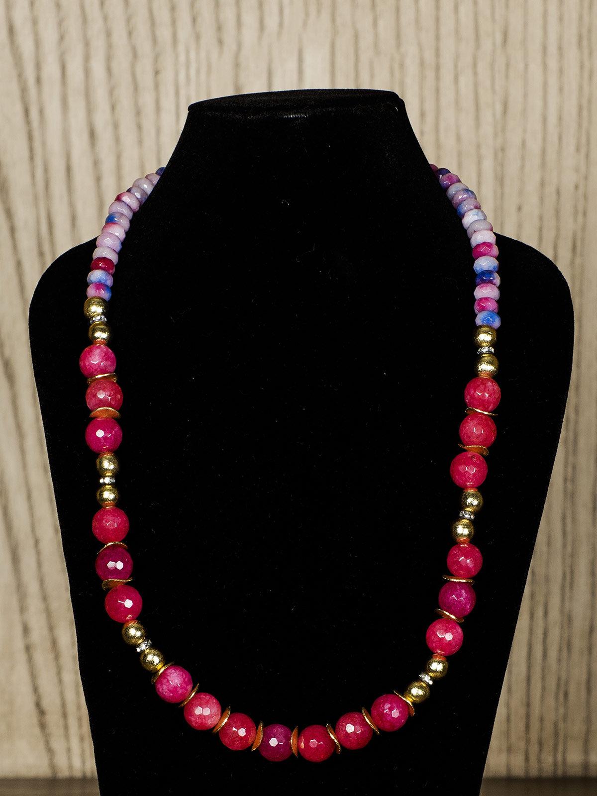 Red Semiprecious Stone Necklace