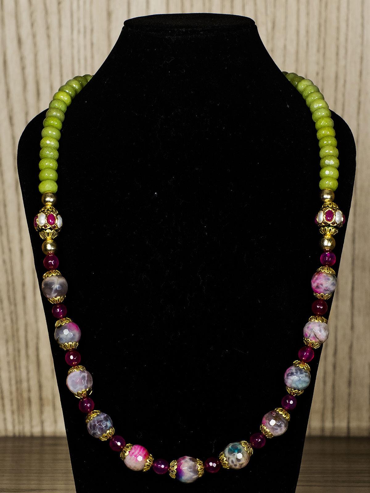 Multicolour Semiprecious Stone Necklace